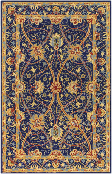 Blue And Gold Rug Roselawnlutheran