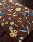 Jaipur Midtown Artemiss MD21 Ditsy Flowers Cocoa Brown/Cocoa Brown Closeout Area Rug