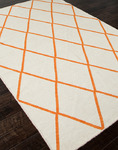 Jaipur Maroc MR04 Amina White/Orange Closeout Area Rug - Spring 2014