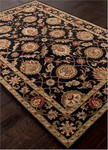 Jaipur Mythos MY10 Callisto Jet Black & Red Ochre Area Rug