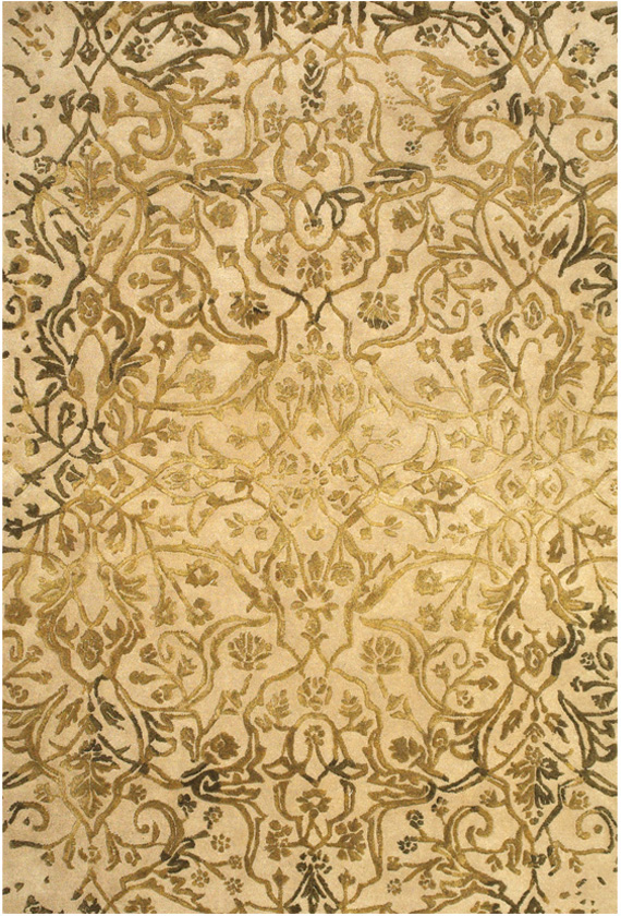 Feizy Mahsa 8400f Ivory Gold Closeout Area Rug