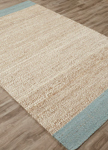 Jaipur Naturals Tobago NAT11 Mallow Blue Surf & Seedpearl Area Rug