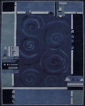 Nourison Dimensions ND16 BL Blue Closeout Area Rug