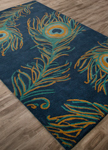 Jaipur National Geographic Home Tufted NGT05 Peacock Blue Ashes & Bayou Area Rug
