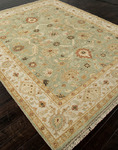 Jaipur Notting Hill NH01 Bexley Blue Surf & Snow White Area Rug