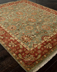 Jaipur Notting Hill NH05 Leyton Ivy Green/Brick Red Closeout Area Rug - Fall 2013
