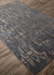 Jaipur National Geographic Home Tufted Premium NTP08 Protozoa Blue Shadow & Dark Denim Closeout Area Rug