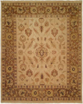 Kalaty Oushak OU-411 Ivory/Brown Closeout Area Rug