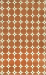 Trans-Ocean Liora Mann Palermo 7626/17 Squares Terracotta Closeout Area Rug