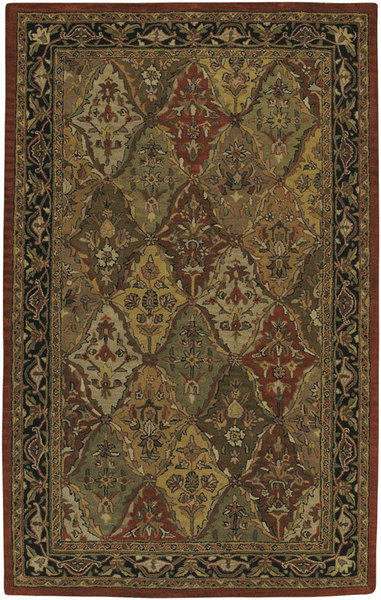 Surya Kashi Panel Kirman Ii Green Closeout Area Rug