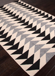 Jaipur Patio PAO04 Mckenzie Jet Black & Birch Area Rug