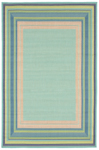 Trans-Ocean Playa 1360/33 Multi Border Cool Area Rug