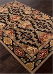 Jaipur Poeme PM110 Massiel Jet Black & Red Ochre Area Rug