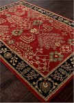 Jaipur Poeme PM111 Chambery Red Ochre & Jet Black Area Rug