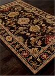 Jaipur Poeme PM98 Summit Black Coffee & Rumba Red Closeout Area Rug
