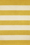 Trans-Ocean Liora Mann Positano 1213/09 Rugby Stripe Yellow Closeout Area Rug