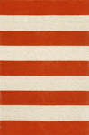Trans-Ocean Liora Mann Positano 1213/24 Rugby Stripe Paprika Closeout Area Rug