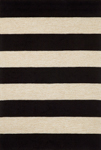 Trans-Ocean Liora Mann Positano 1213/48 Rugby Stripe Black Closeout Area Rug
