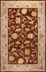 Bashian Venezia R120 CL104 Rambagh Chocolate Closeout Area Rug