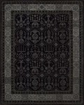 Nourison Regal REG01 BLK Black Area Rug