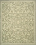 Nourison Regal REG02 GRE Green Area Rug