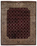 Kalaty Riviera RV-610 Burgundy/Ivory Closeout Area Rug