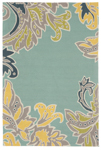 Trans-Ocean Liora Mann Ravella 1947/03 Ornamental Leaf Border Water Area Rug
