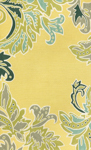 Trans-Ocean Liora Mann Ravella 1947/09 Ornamental Leaf Border Yellow Area Rug