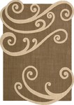 Nourison Silhouettes SIL02 CHO Chocolate Closeout Area Rug