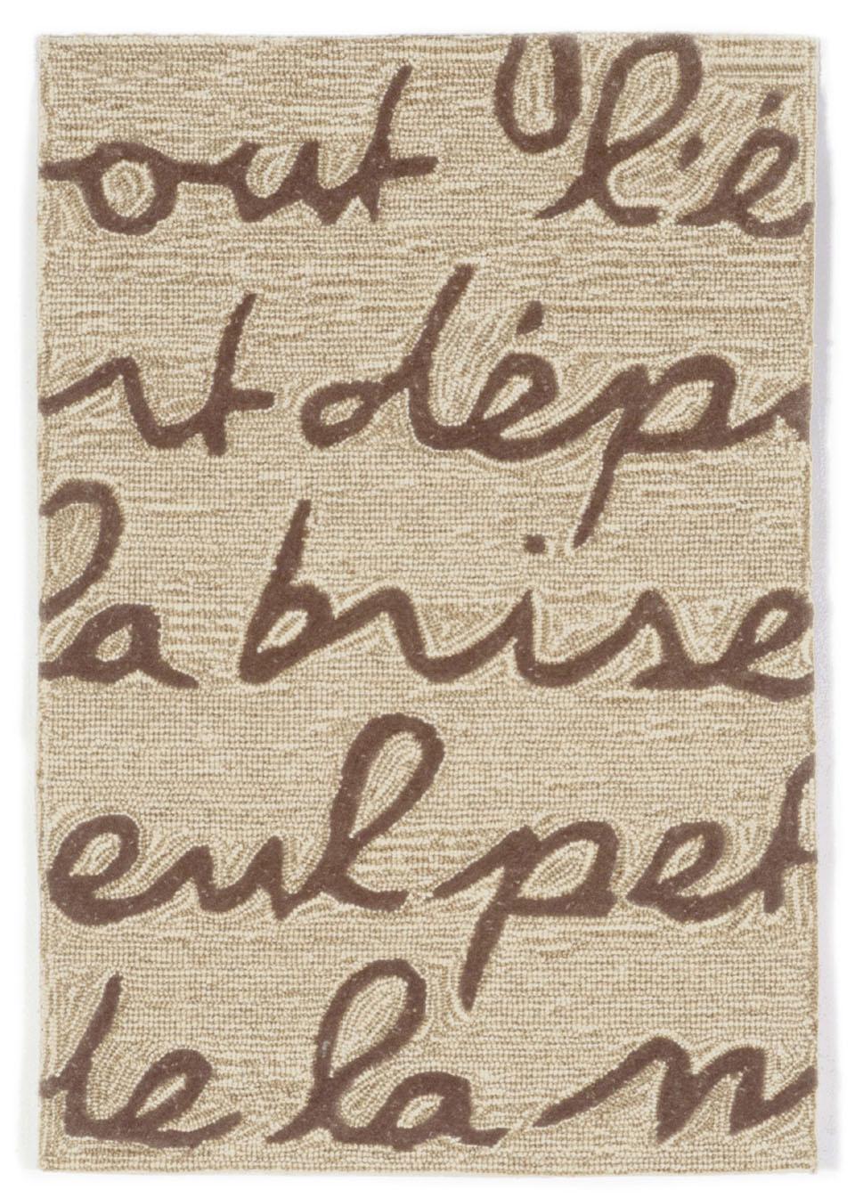 Trans Ocean Liora Manne Spello 2049 19 Poem Brown Closeout