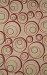 Trans-Ocean Liora Mann Spello 1936/24 Hoops Red Area Rug
