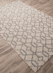 Jaipur Subra SNK01 Baza Charcoal Gray & Bone White Area Rug
