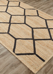 Jaipur Subra SNK11 Eos Almond Buff & Jet Black Closeout Area Rug
