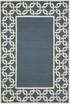 Trans-Ocean Liora Mann Spello 2142/33 Chain Border Denim Closeout Area Rug