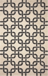 Trans-Ocean Liora Mann Spello 2018/48 Chains Black Closeout Area Rug