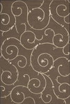 Nourison Sorrento SR05 CHO Chocolate Closeout Area Rug