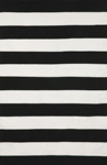 Trans-Ocean Sorrento 6302/48 Rugby Stripe Black Area Rug