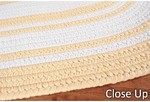 Surya Country Living Seaside Stripes SSD-7501 Yellow/White Closeout Area Rug - Spring 2012