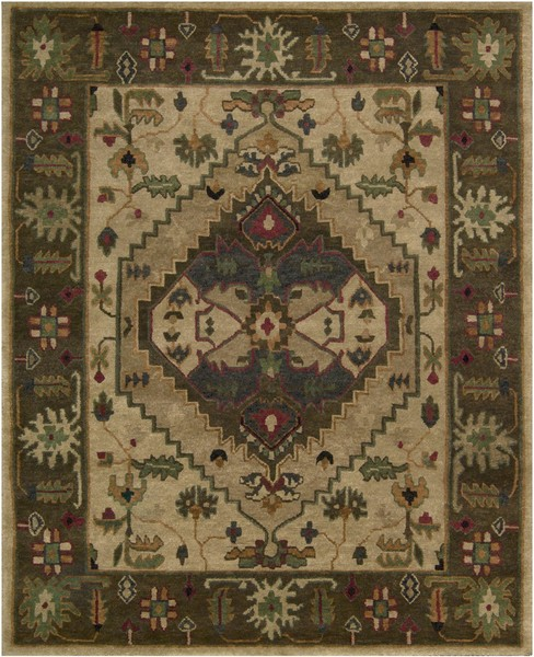 9 X 12 Nourison Nourmak Hand Knotted 100 Wool Persian: Nourison Tahoe TA01 BGE Beige Area Rug