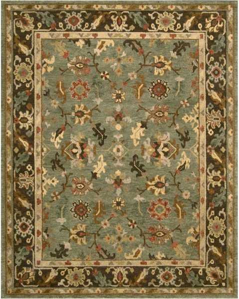 Nourison Tahoe Ta10 Gre Green Area Rug Rugs A Bound