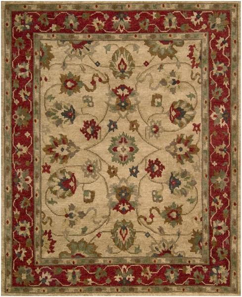 9 X 12 Nourison Nourmak Hand Knotted 100 Wool Persian: Nourison Tahoe TA11 BGE Beige Closeout Area Rug