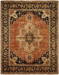 Allara Tania AN-1004 Rust/Navy Area Rug