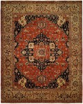 Allara Tania AN-1007 Rust/Navy Area Rug