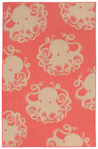 Trans-Ocean Liora Mann Terrace 1784/27 Octopus Coral Closeout Area Rug