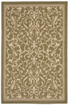 Trans-Ocean Liora Mann Terrace 1794/76 Scroll Vine Green Area Rug