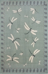 Trans-Ocean Liora Manne Terrace 1746/73 Dragonfly Aqua Closeout Area Rug
