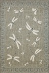 Trans-Ocean Liora Mann Terrace 1746/68 Dragonfly Silver Closeout Area Rug