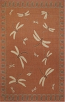 Trans-Ocean Liora Manne Terrace 1746/94 Dragonfly Terracotta Closeout Area Rug