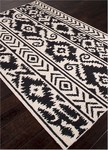 Jaipur Urban Bungalow UB30 Farid Snow White & Jet Black Area Rug