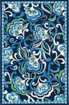 Marcella Vera Bradley Indoor/Outdoor VBO011A Mediterranean Blue Outdoor Closeout Area Rug